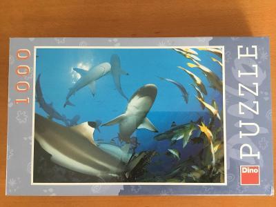 Puzzle Dino žraloci 1000 dílků - nové