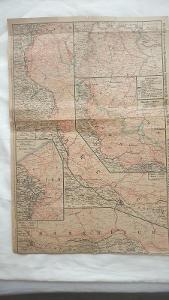 2xVÁLEČNÁ MAPA Rakousko-Uherská z 1.světové války1914/18-valečné území