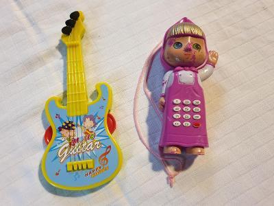 Růžová panenka jako telefon pro dětí - Od 1 Koruny