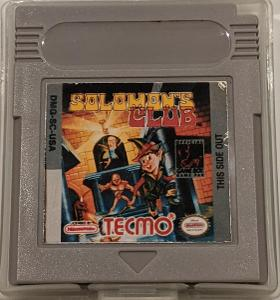 HRA Nintendo Game Boy Solomons Club GAMEBOY