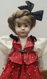 GÖTZ W-GERMANY sběratel. porcelánová panenka *50cm