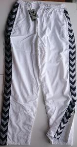 HUMMEL, bílé tepláky s podšívkou vel. XL, NOVÉ