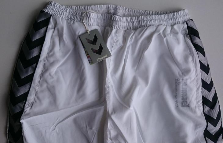 HUMMEL, bílé tepláky s podšívkou vel. XL, NOVÉ - Pánské oblečení