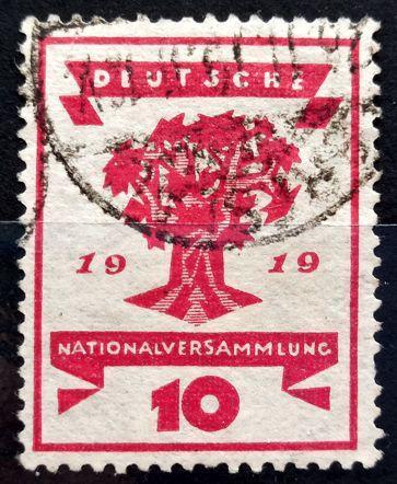 DEUTSCHES REICH: MiNr.107 Live Stump of Tree 10pf 1919