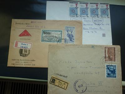 3 x pěkný dopis  CENZURA RAKOUSKO ZENSUR + DOBÍRKA 1960+FALERISTIKA!!!