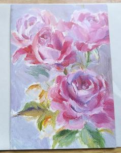Pohled přání  Růže