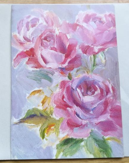 Pohled přání  Růže - Pohlednice