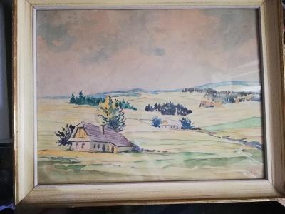 Antonín Hála akvarel