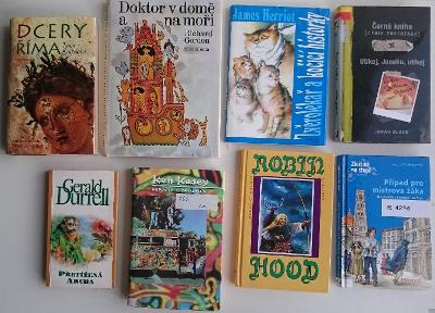 KESSEY, DURRELL, GORDON, HERRIOT a jiné, 8 knih