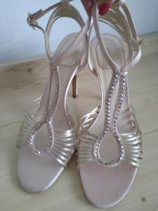Dior Sandálky pudrová, béžová, zlatisté v.41