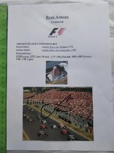 Autogram podpis Arnoux Rene