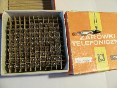 200 kusů telefonních žárovek: 100x 12V, 100mA, 100x 24V, 100 mA, nové