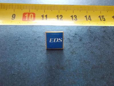 Starší připínací odznak smalt reklama EDS