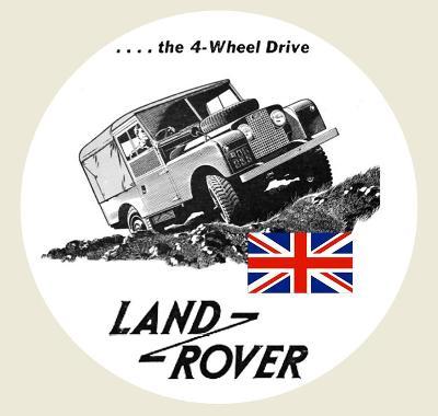 LAND ROVER DEFENDER England, bílá samolepka pr.7-(1x).