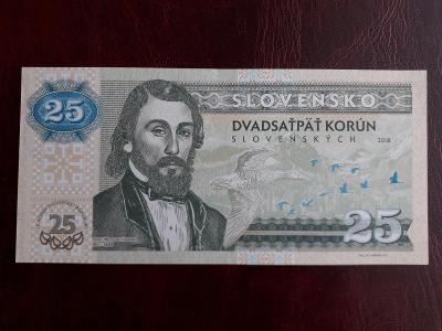 25 korún SLOVENSKO bankovka Gábriš
