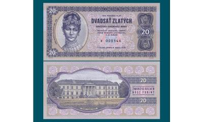 20 zlatých , bankovka 2020 , Gábriš