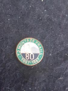 Odznak TJ MONTÁŽE PRAHA, výroční 80 let 1887 - 1967