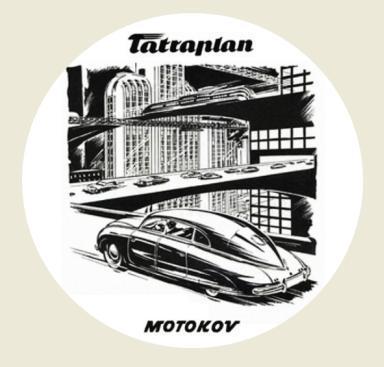 TATRAPLAN MOTOKOV, bílá samolepka pr.7-(1x).