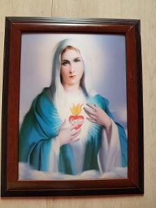 Svatý obrázek-foto blýskavé Panna Marie 38x48 cm