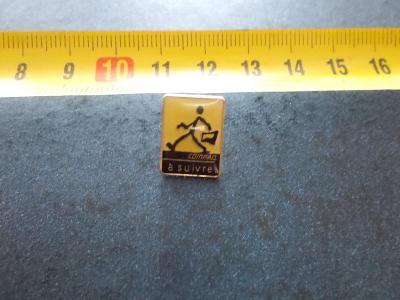 Starý připínací odznak smalt reklama firma Compaq a suivre počítače