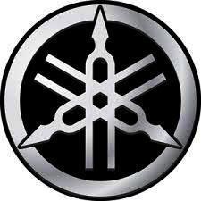 Logo ve stylu YAMAHA, čirá samolepka pr.4-(1x).