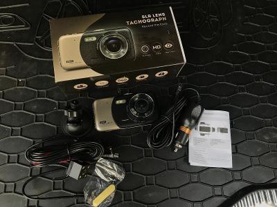 """4"""" Autokamera dualni - prední + zadní / parkovací ČEŠTINA, G-senzor"""
