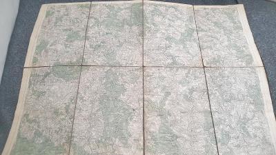 Vojenská mapa 1931-Jihlava-Polná-Třešť-Stonařov-Brtnice-Dol.Cerekev