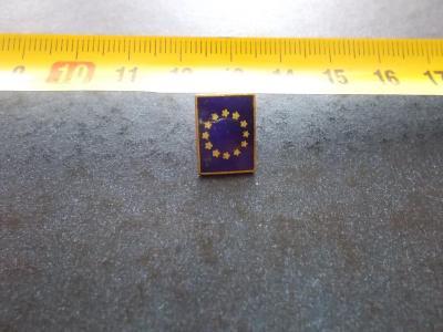 Starý připínací odznak smalt reklama Evropská unie