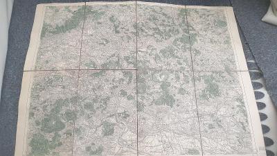 Vojenská mapa 1929-Ústí nad Labem-Litoměřice-Terezín-Lovosice-Krupka