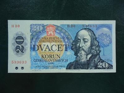 20 korun 1988  Serie H 30 Neperforovana  Moc Hezka