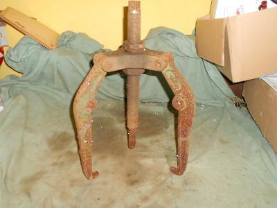Stahovák,masivní 3-ramenný,maxistahovák,výroba min.století