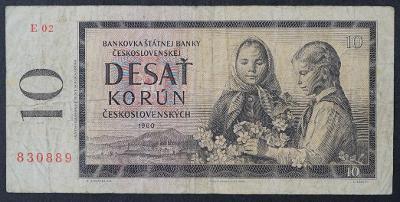 10 Kčs 1960 s. E