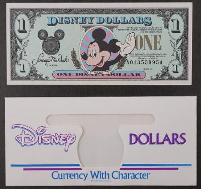 Disney dollar 1991 s.A Mickey Mouse BANKOVKA