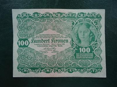 100 Kronen 1922 Luxusni Stav