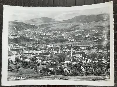 Děčín Podmokly nad Labem celkový pohled na město domy továrna