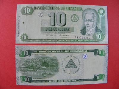 10 Cordobas 2002 Nicaragua - P191 - UNC -  /X112/