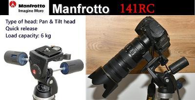💥 Manfrotto 141RC - Fotografická 3cestá hlava**Nosnost: 6kg*TOP👍