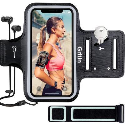 Sportovní pouzdro na ruku pro Iphone Gritin 26,5-38cm, černá