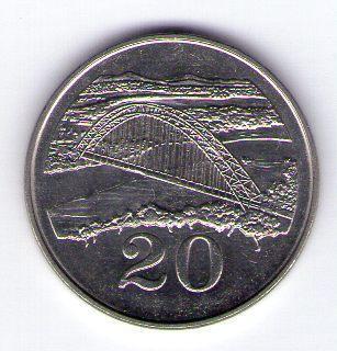 Zimbabwe 20 cents 1980 Cu-Ni KM 4
