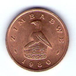 Zimbabwe 1 cent 1980 Bro  KM 1