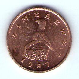 Zimbabwe 1 cent 1997 Bro cl. ocel KM 1a