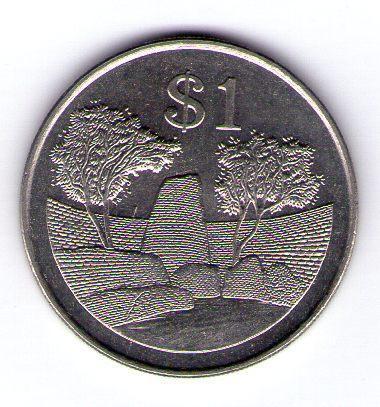 Zimbabwe 1 Dollar 1993 Cu-Ni KM 6