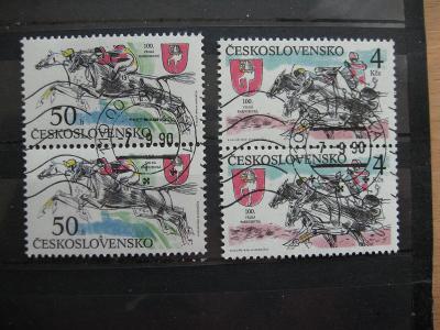 série 2953/2954 - 100. ročník Velké pardubické 1990 (2) - popis - H-24