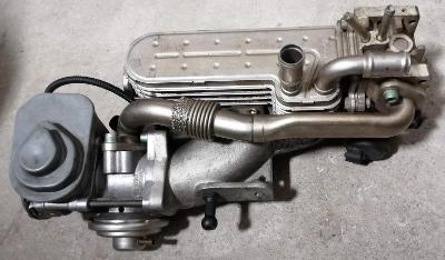 originál chladič výfukových plynů s EGR ventilem a sání VW 1,9 TDi