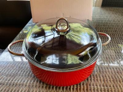 Hrnec s víkem SILIT Ø 28 cm Energy Red  cca 5,9 litrů