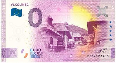 0 Euro souvenir bankovka 2021 VLKOLÍNEC