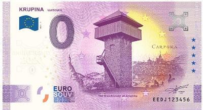 0 Euro souvenir bankovka 2021 KRUPINA - Anniversary