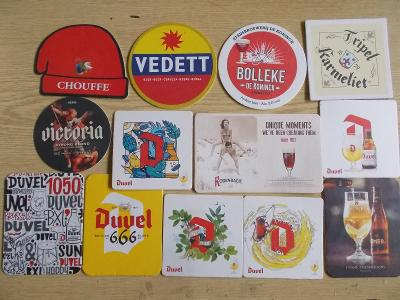 Pivní tácek podtácek sada sestava cizina Belgie
