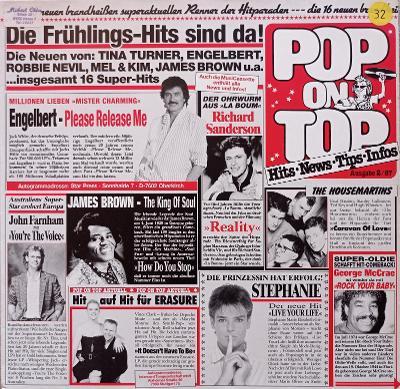 Pop on Top(Erasure,Sandra,Radiorama)SOR 1987 - VG+