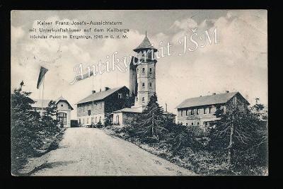 Karlovy Vary H4865 Krušné Hory Klínovec Rozhledna r. 1908
